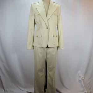 Anne Klein Suit 2 Piece Pants Blazer Jacket Set